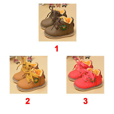 Winter Warm Snow Boots Toddler Kids Baby Boy Girl Child Leather Crib Shoes 1-6T