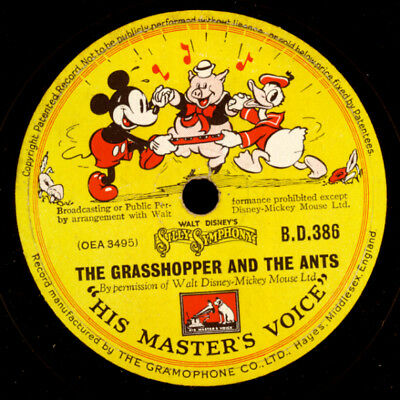 WALT DISNEY'S MICKEY'S MOUSE -SOUNDTRACK-  Mickey's Moving Day   78rpm   S9835