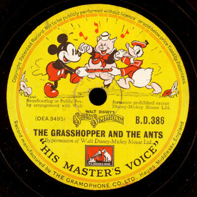 WALT DISNEY'S MICKEY'S MOUSE -SOUNDTRACK-  Mickey's Moving Day   78rpm   S9834