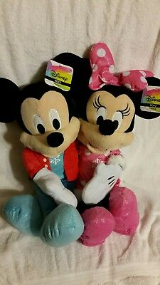 """Mickey And Minnie Mouse Toys R Us Plush New for 2017 22"""" Tall. 2 sets."""