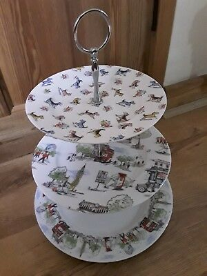 Kath Kidston Billie Goes To London Town 3 Tier Cake Stand