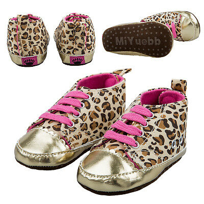 Warm Soft Baby Infant Toddler Boy Girl Leopard Shoes 0-6 Month A9G7@D2V0