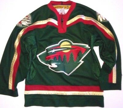 Maillot jersey de hockey sur glace NHL Minnesotta WILD 10 12 ans