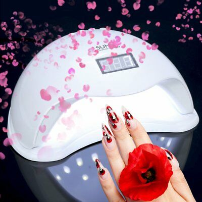 48W LED Light UV Lamp Nail Dryer Art Curing SUN5 Gel Gelish Timer Acrylic Polish