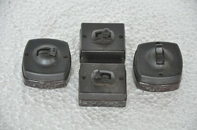 4 Pc Vintage Crabtree & Britmac Fine Ceramic&Bakelite Electric Switches,England