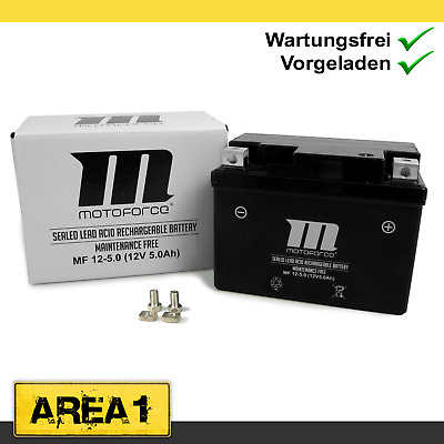 Wartungsfreie Batterie 5Ah Kymco Super 9 AC 50 , Vitality 50 2T YT4A-3 Motoforce