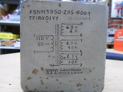 110V  Primary Transformer 6.3V 2A and 2.5V 10A (X2) Secondary