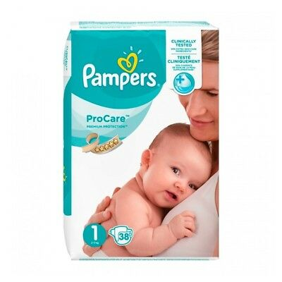 Pampers ProCare Premium Protection Taille 1 (2-5 kg) Couches par 38