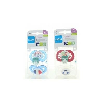 Mam Sucettes Silicone 6-18 mois Collection Foot Lot de 2 - N62