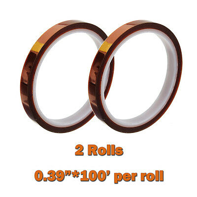 Heat Resistance Proof Tape 2 Rolls 0.39inch*100ft Sublimation Transfer Thermal