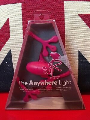 The Anywhere Light - Posey Pink. Flexible & Multi Postion Reading Light. New