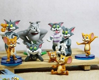 9pcs Tom and Jerry SPIKE CARTOON Action figures Cat Mouse Dog Animals Kid Toys