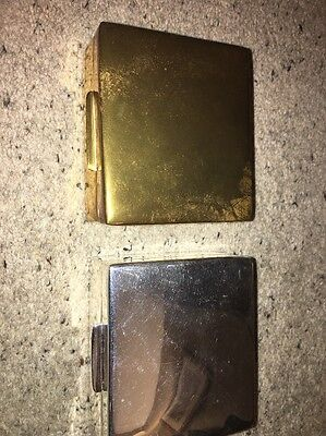 Pair Of Ralph Lauren Boxes Silver and Gold Coloured Cigar Teak Boxes