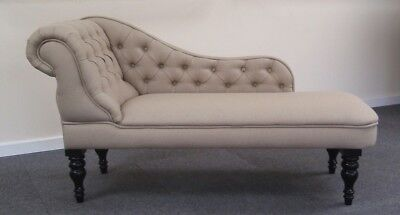 CHAISE LONGUE Oatmeal linen type fabric NEW