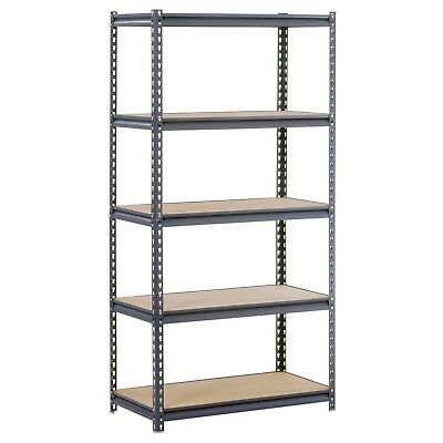 Edsal UR185P-GY Gray Steel Industrial Shelving 5 Adjustable Sh... Top Daily Deal