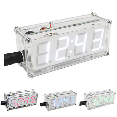 4-Digit DIY LED Electronic Clock Kit Microcontroller 0.8inch Digital Tube C@U5A6