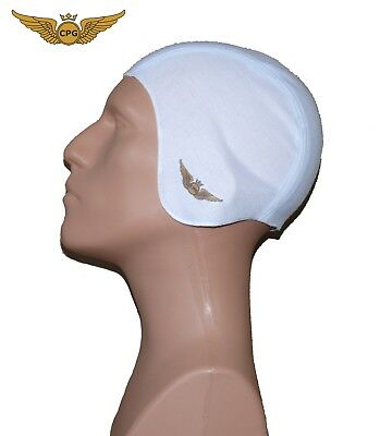 Pilot aviation SKULL CAP for Inner Flight Helmet - White