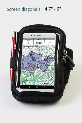 "Pilot, aviation, flight Kneeboard for Smart Phone 4,7"" - 6"""