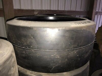 28x10x22 Solideal Smooth Fork Truck Tires Press-On Black