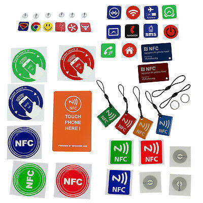 10pcs Smart NFC Tags Stickers for Samsung Galaxy S5 S4 Note 3 Nokia Lumia 9@Y7Q0