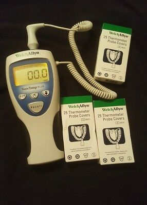 WELCH ALLYN SureTemp Plus 692 Thermometer w/3 box Oral covers.