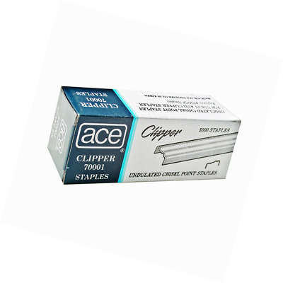 ACE Undulated Clipper Staples for 07020, Box of 5,000 Staples (ACE70001)