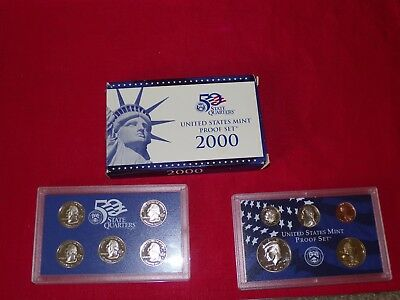 2000 S US Mint Proof 10 Coin Set - 5 states & 5 pieces