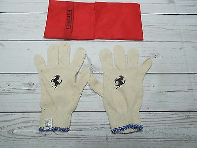 Ferrari Factory Oem Gloves And Pouch Excellent