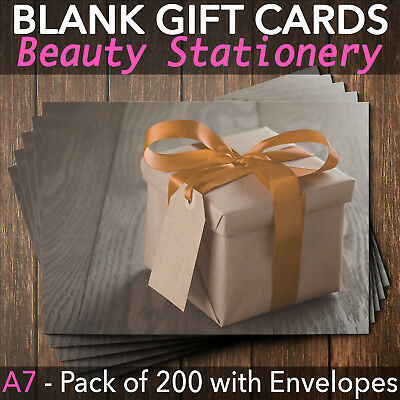 Gift Voucher Card Massage Beauty Nail Salons Hairdresser x200 Envelopes BO