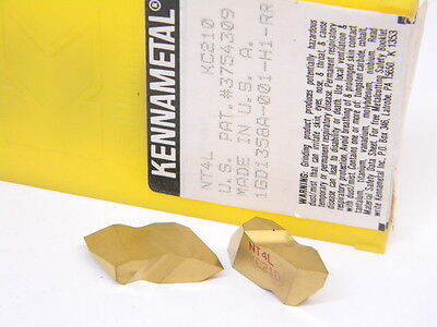 NEW SURPLUS 5PCS. KENNAMETAL NT4L GRADE: KC210 CARBIDE INSERTS Tin Coated