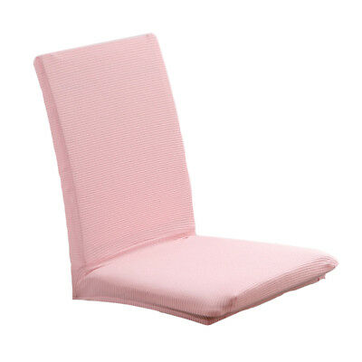 Simple Seat Covers Kitchen Bar Dining Chair Cover Hotel Wedding Decor Pink