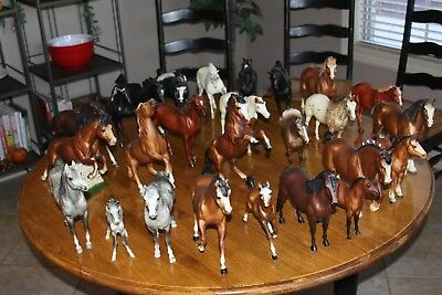 26 Breyer's Multiple Breed Horses, Standard size, various colors. (ALL)