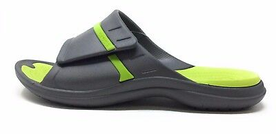 99887b8449c5 Crocs Unisex Modi Sport Slide Sandal Graphite Grey Volt Green 6 Mens 8  Womens