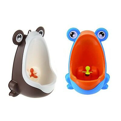 Stylish Frog Children Stand Vertical Urinal Wall-Mounted Urine Groove (Coff@H4J2