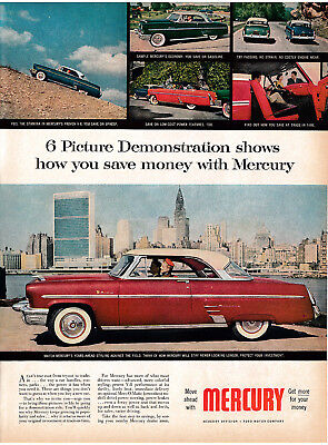 1953 Mercury Monterey Original 13.5*10.5 MagazineAd-Ford-More Car For Your Money