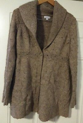 A Pea in the Pod Womens Tan Maternity Knit Sweater Size Small