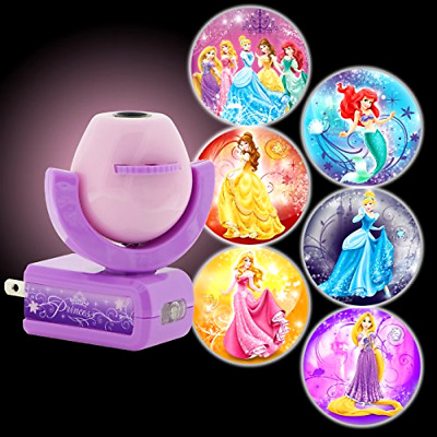 Disney Princess Night Light Kids Projector Lamp Wall Ceiling LED Plug In Bedroom