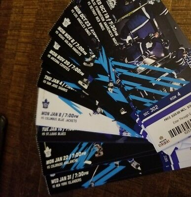 Toronto Maple Leafs pair of tickets.