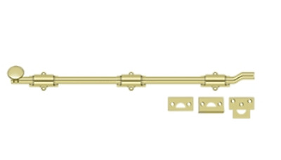 FPL Off Set Surface Bolt 18 Inch Heavy Duty Solid Brass in 8 Finishes By FPL