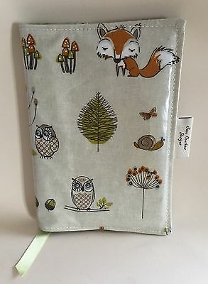 A5 Diary Cover,Journal Cover, Nurses Diary Cover, Page To View,Woodland Oilcloth