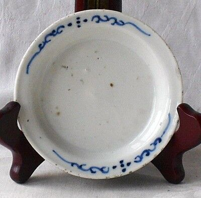 C18Th Chinese Blue And White Dish On Three Feet