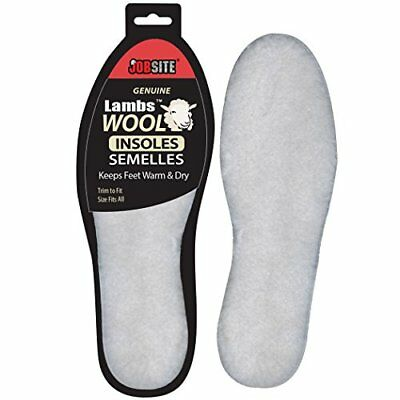 JobSite Cozy Warm Lambs Wool Insoles - Thick Soft & Insulates - One Size Fits...