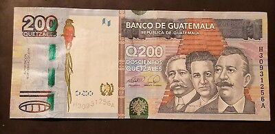 GUATEMALA 200 Quetzales, 2009, P 120 Lightly Circulated