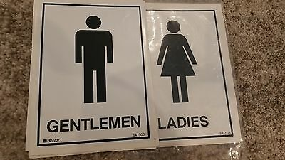 Ladies & Gents Toilet Stickers, Brady Stock No 841503 and 841500 4 of each still