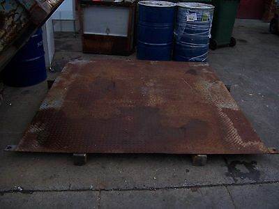shipping container loading ramp, heavy duty checker plate