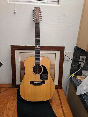 Acoustic Guitar Unknown 12 string made in Japan  in good condition/case