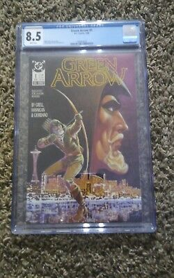Green Arrow (1988) #1 Cgc 8.5 Dc Mike Grell 1St Solo Series