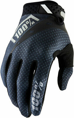 100% MX Motocross RIDEFIT Gloves (Black) S