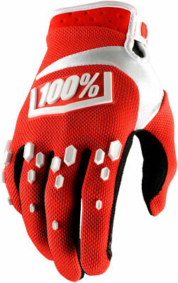 100% MX Motocross AIRMATIC Gloves (Red/White) XL