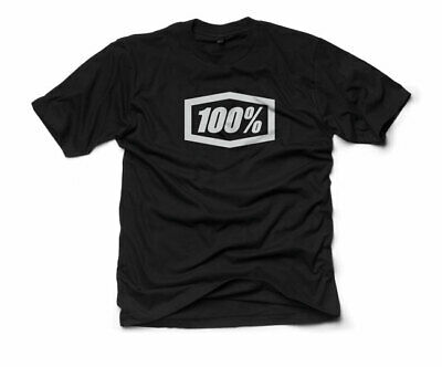 100% MX Motocross ESSENTIAL Short-Sleeve Tee T-Shirt (Black) L (Large)
